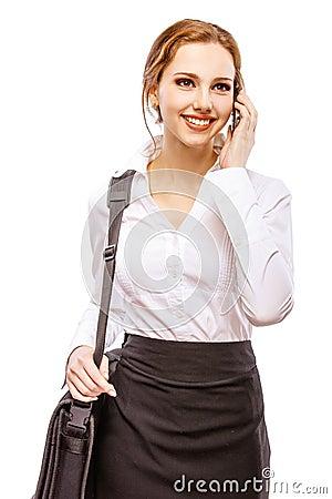 Free Girl With Laptop Bag Royalty Free Stock Photos - 82069498