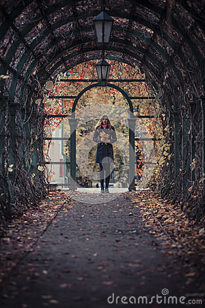 Free Girl With Leaves Royalty Free Stock Photos - 27386148