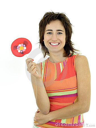 Free Girl With Lollipop Royalty Free Stock Images - 255579