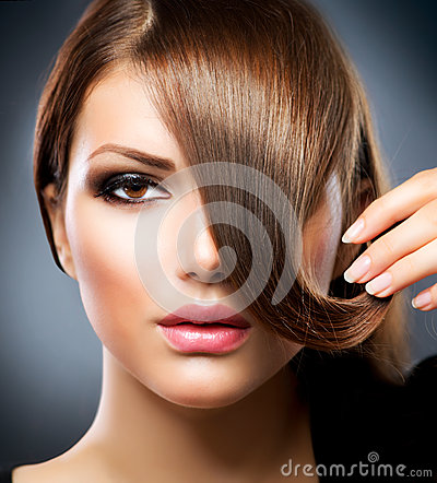 Free Girl With Long Brown Hair Stock Photo - 25970170