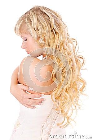 Free Girl With Long Fair Hair From Back Stock Photos - 13442813
