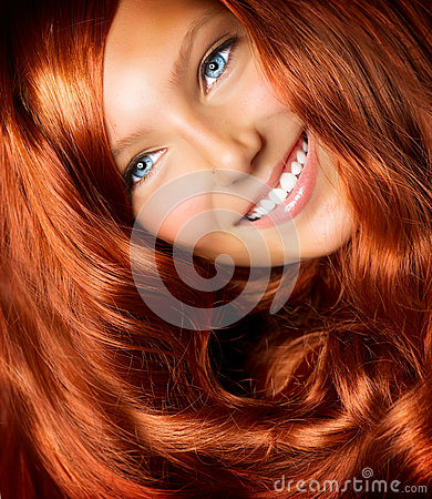 Free Girl With Long Red Hair Royalty Free Stock Photo - 26019835