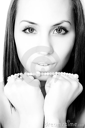 Free Girl With Pearl Bead Royalty Free Stock Images - 11419449