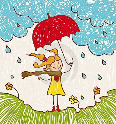Free Girl With Red Umbrella Royalty Free Stock Photo - 23686105