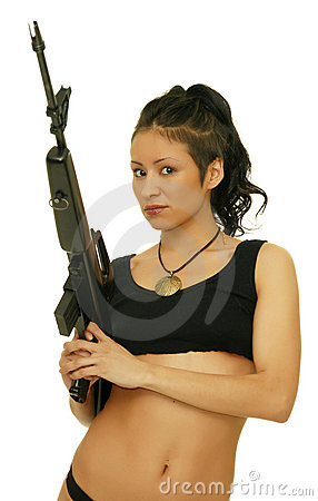 Free Girl With Rifle Stock Photos - 17704723