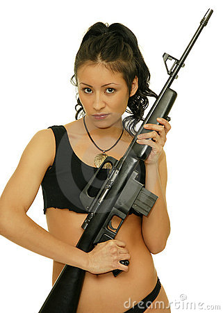 Free Girl With Rifle Stock Photography - 18090512