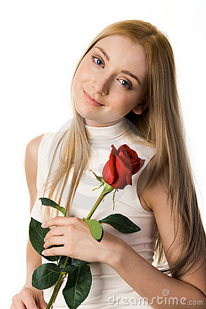Free Girl With Rose Royalty Free Stock Photography - 7128437