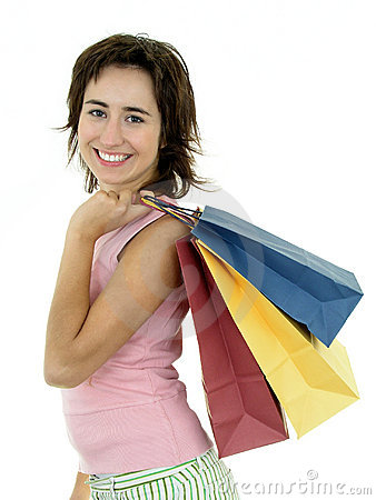 Free Girl With Shopping Bags Royalty Free Stock Photo - 252995
