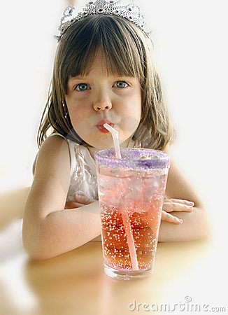 Free Girl With Soda Royalty Free Stock Photography - 1135337