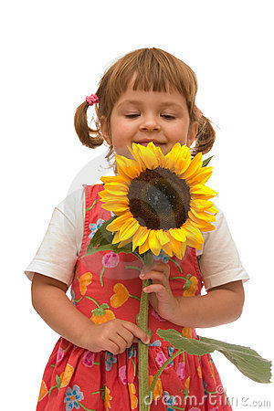 Free Girl With Sunflower Stock Photography - 2764452