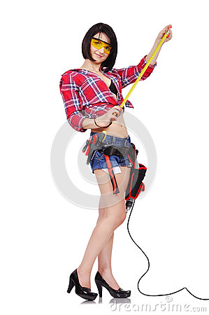 Free Girl With Tape Measure Stock Images - 45304594