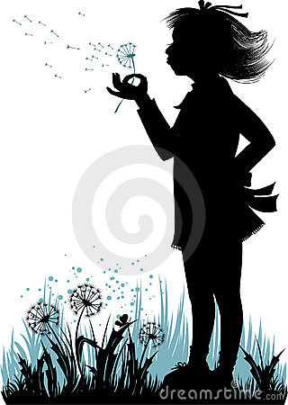 Free Girl With The Dandelion Stock Photos - 7636543