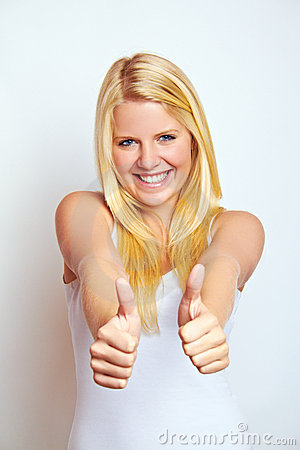Free Girl With Thumbs Up Stock Photos - 15971033