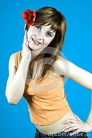 Free Girl With Tulip Stock Photo - 1324130