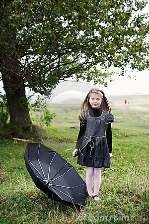 Free Girl With Umbrella Stock Photography - 15926382