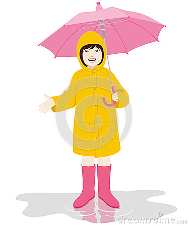Free Girl With Umbrella Royalty Free Stock Images - 29489339