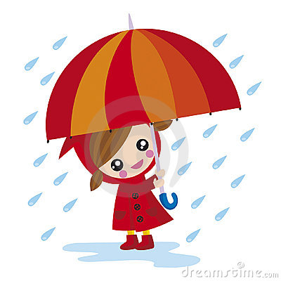 Free Girl With Umbrella Stock Photography - 5503552