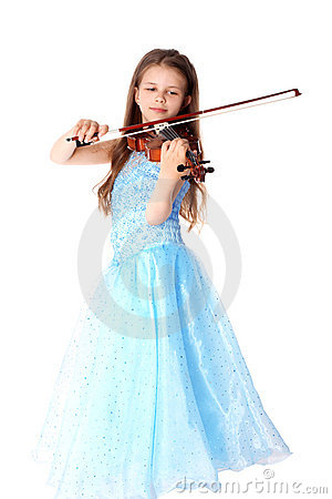 Free Girl With Violin Stock Images - 14645944