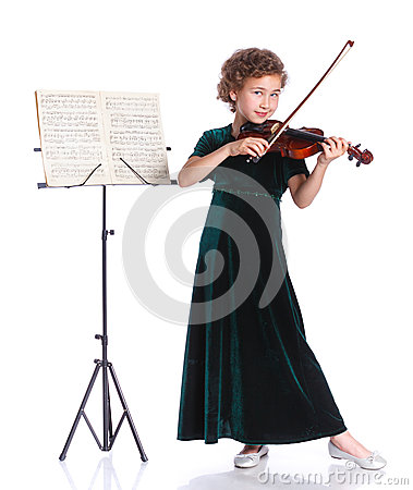 Free Girl With Violin Stock Photo - 63520830