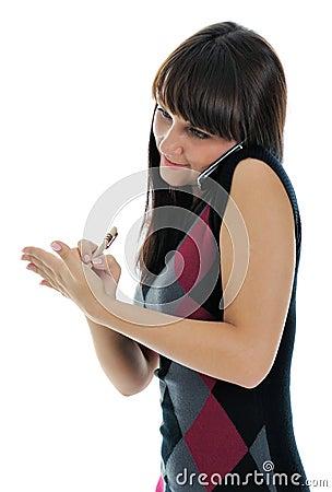 Girl, writing notes