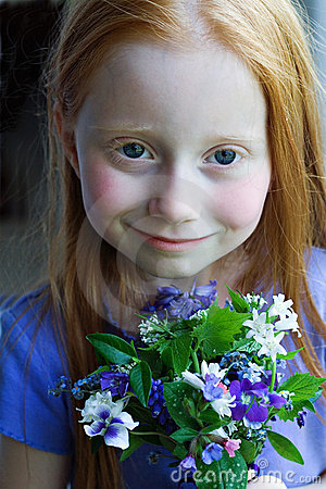 Girl wth Flowers