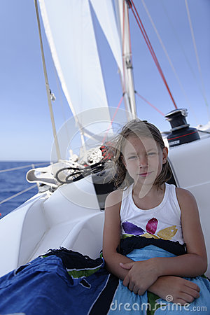 Girl on yacht