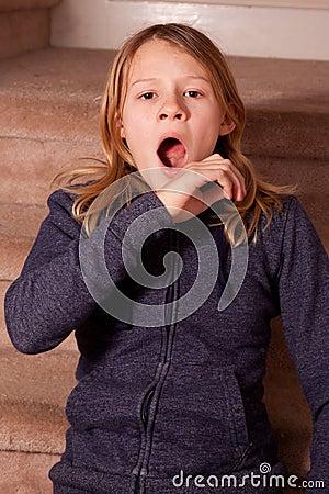 Girl Yawning Stock Photo Image 49348189