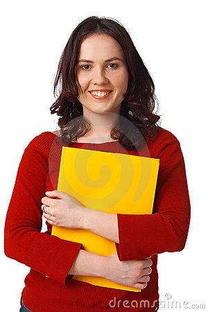 Girl With Yellow Folder