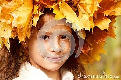 Girl in a yellow head wreath