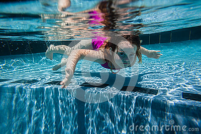 Girl Young Pool Underwater