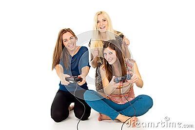 Girlfriend play video games