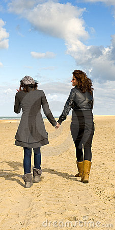 Girlfriends on beach