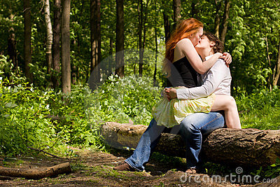 Girlfriends kissing