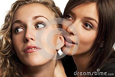 Girlfriends sharing their secrets