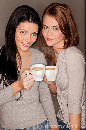 Free Girlfriends Trinking Some Coffee Stock Photos - 18388383