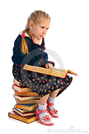 Girlie with book