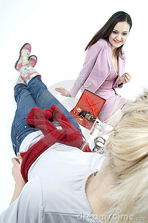 Free Girlie Conversation Stock Photography - 686512