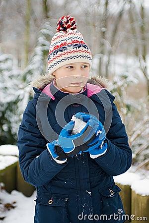 Girlie in snow