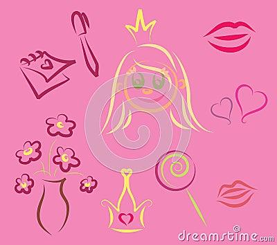 Girlish elements