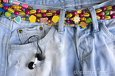 Girlish jeans