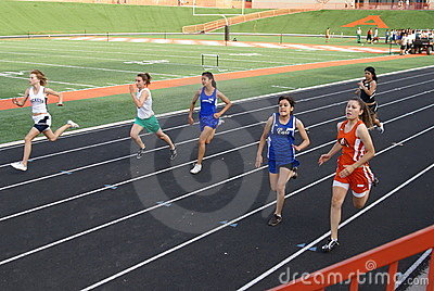 Girls 100 Meter Race Editorial Photography