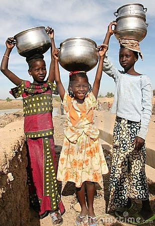 Girls in Africa Editorial Photo