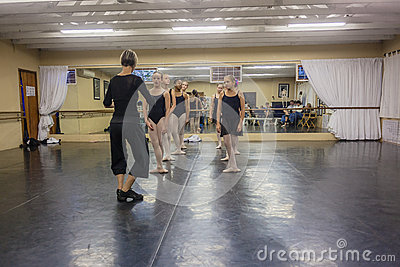 Girls Ballet Instructor Dance Studio Editorial Photo