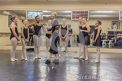 Girls Ballet Laughter Instructor  Editorial Stock Photo