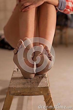 Girls bare feet