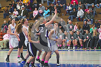 Girls Basketball Action Editorial Stock Image