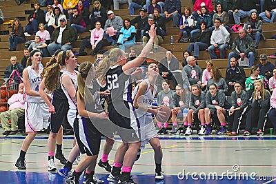 Girls Basketball Action Editorial Stock Image