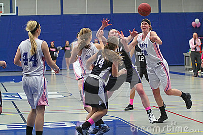 Girls Basketball Action Editorial Photo