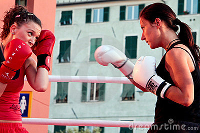 Girls boxing Editorial Photography