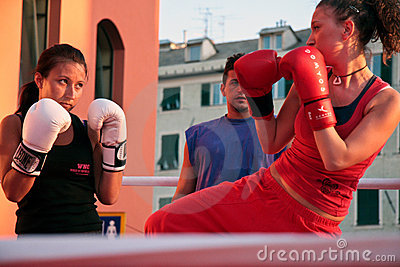 Girls boxing Editorial Photo
